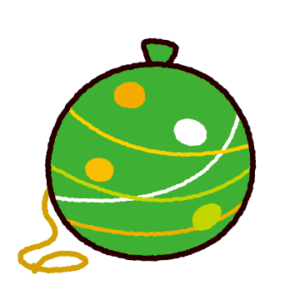 水風船のイラスト(水ヨーヨー)