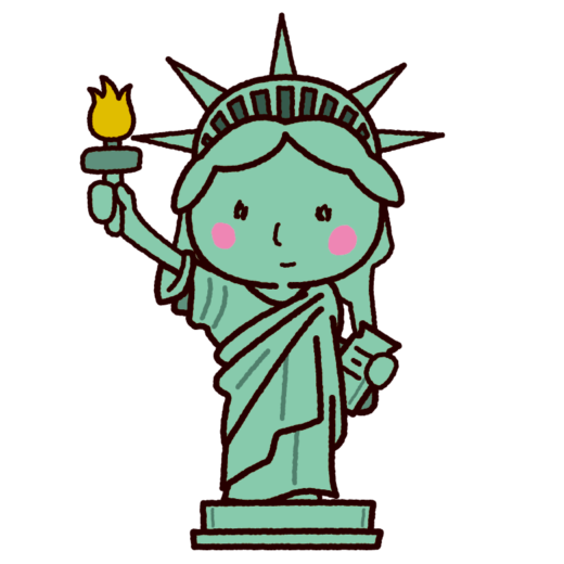 自由の女神のイラスト