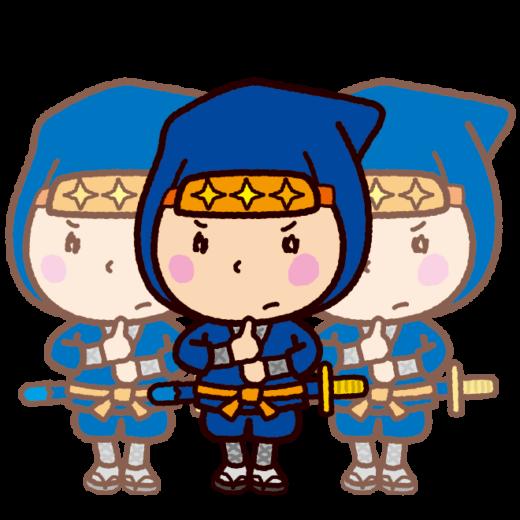 忍者のイラスト(忍法分身の術)