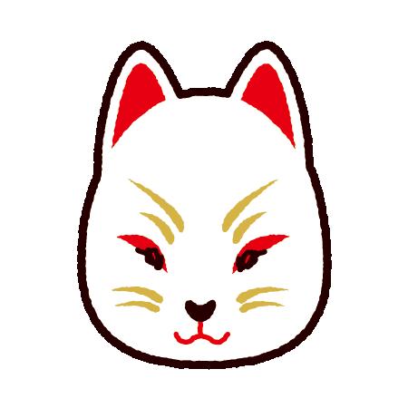狐面のイラスト