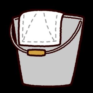 掃除のイラスト(雑巾とバケツ)