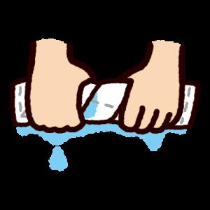 掃除のイラスト(雑巾しぼり)