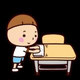 掃除のイラスト(机拭き)
