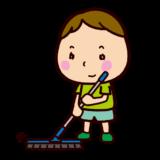 掃除のイラスト(掃き掃除)