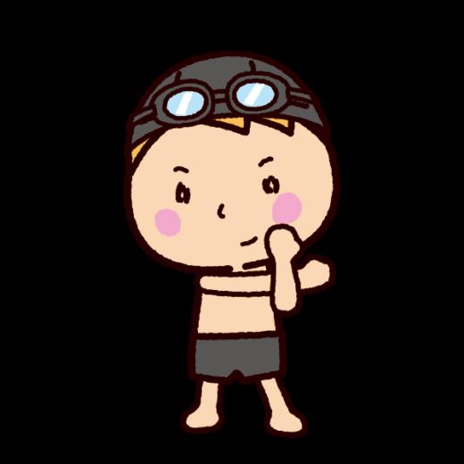水泳のイラスト(準備体操・ストレッチ)