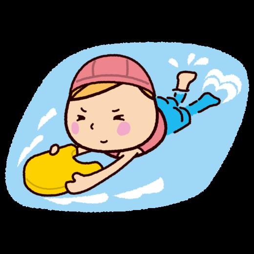 水泳のイラスト(ビート板)