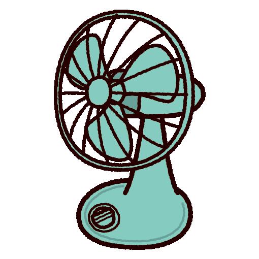 レトロな扇風機のイラスト イラストくん