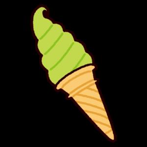 ソフトクリームのイラスト(コーン)