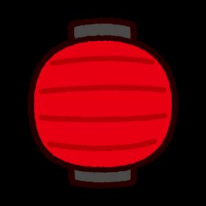 提灯のイラスト(丸型)