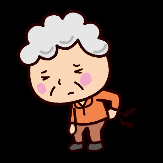 老人のイラスト(腰痛)