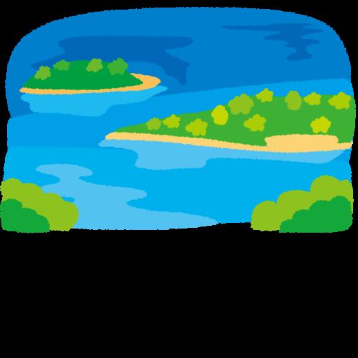 背景イラスト(島)