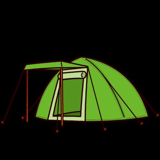 テントのイラスト(ドーム型)