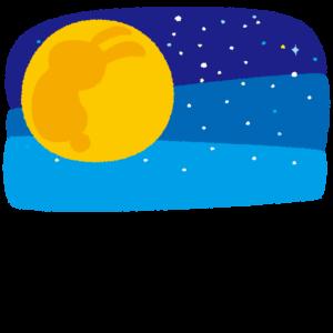 背景イラスト(満月)