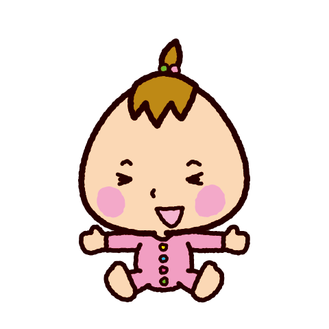 赤ちゃんのイラスト(喜ぶ)