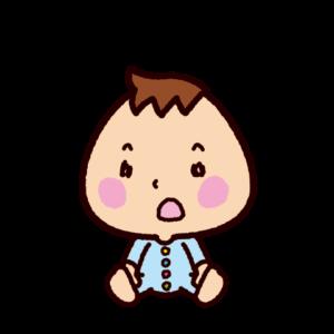 赤ちゃんのイラスト(驚く)