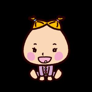 赤ちゃんのイラスト(笑う)