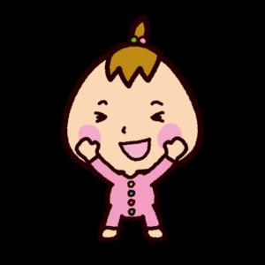 赤ちゃんのイラスト(立って抱っこせがむ)