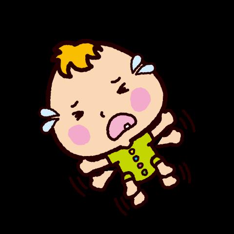 赤ちゃんのイラスト(駄々をこねる)