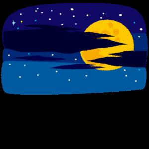背景イラスト(月夜)