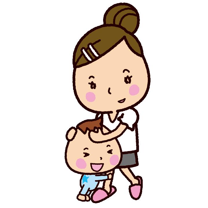 ママに抱きつく赤ちゃんのイラスト イラストくん