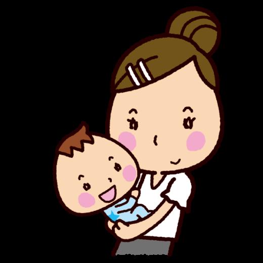 抱っこするイラスト(ママ)