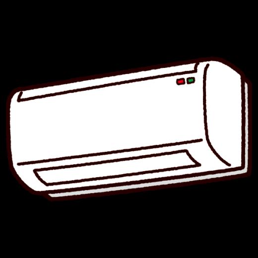 エアコンのイラスト(クーラー・ヒーター)