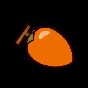 柿のイラスト(渋柿)