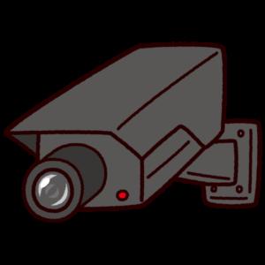 防犯カメラのイラスト(監視カメラ)