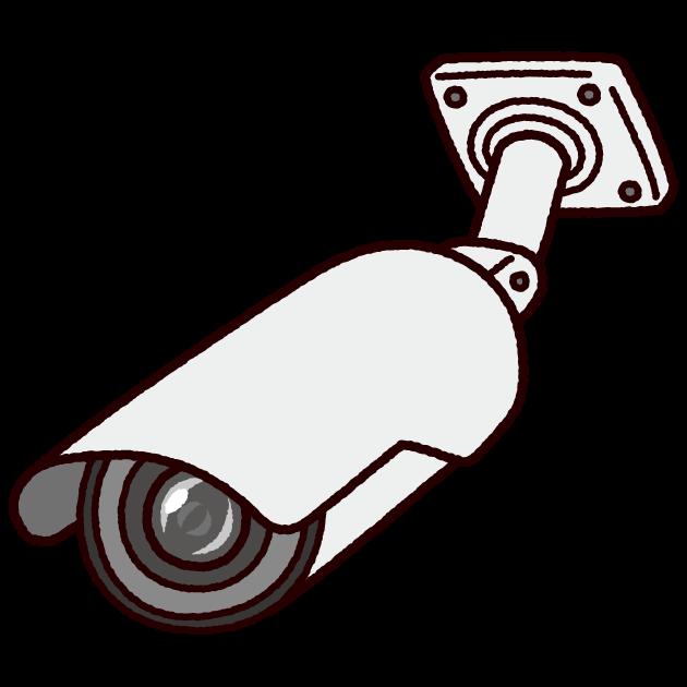 防犯カメラのイラスト丸型監視カメラ イラストくん