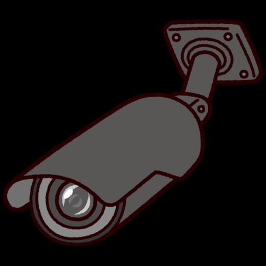 防犯カメラのイラスト(丸型・監視カメラ)