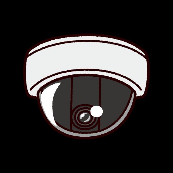 防犯カメラのイラストドーム型監視カメラ イラストくん