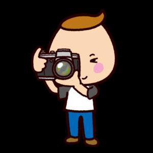 写真を撮るイラスト