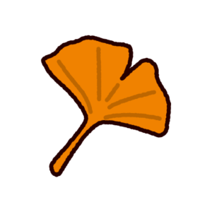 銀杏の葉のイラスト