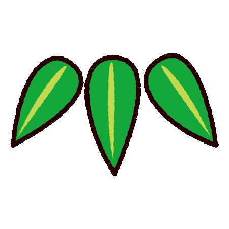 松竹梅のイラスト(竹)