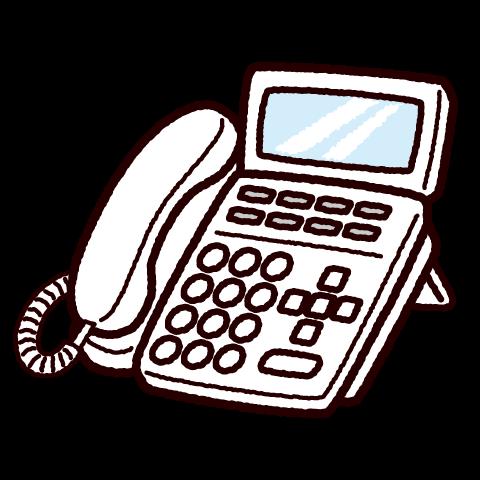 電話のイラスト(ビジネスフォン)