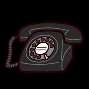 電話のイラスト(黒電話)