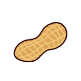 ピーナッツのイラスト(殻付き)