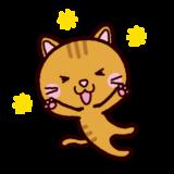 喜ぶイラスト(猫)