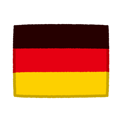 国旗のイラスト(ドイツ)