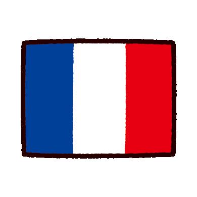 国旗のイラストフランス イラストくん