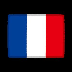 国旗のイラスト(フランス)