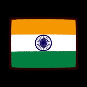 国旗のイラスト(インド)