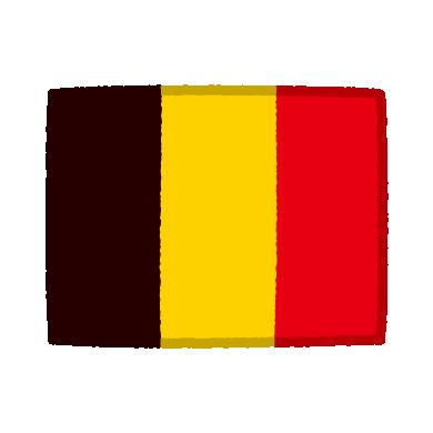 国旗のイラスト(ベルギー)