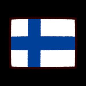 国旗のイラスト(フィンランド)
