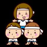 運動会のイラスト(組体操)