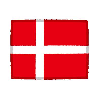 国旗のイラスト(デンマーク)