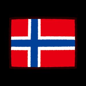 国旗のイラスト(ノルウェー)