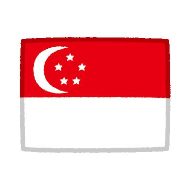 国旗のイラスト(シンガポール)