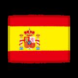 国旗のイラスト(スペイン)