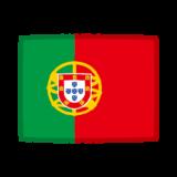 国旗のイラスト(ポルトガル)